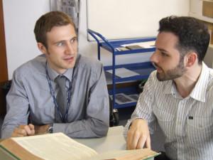 Adam Shaw (left)