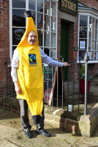 Mervyn Wilson gets into the spirit for Fairtrade Fortnight at the Pioneers Museum.